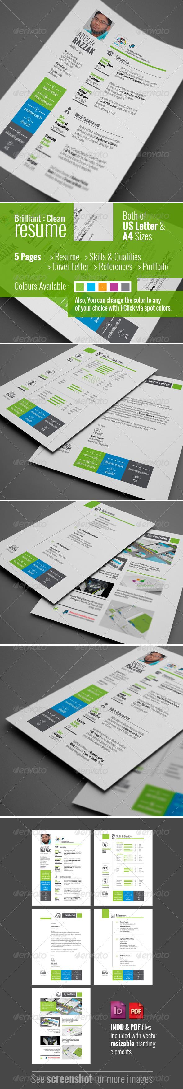 GraphicRiver Brilliant Clean Resume 5732631