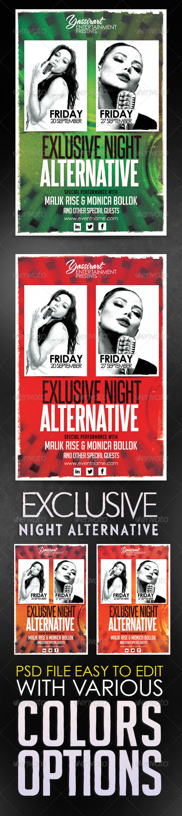 GraphicRiver Exclusive Night Alternative Flyer 5732700