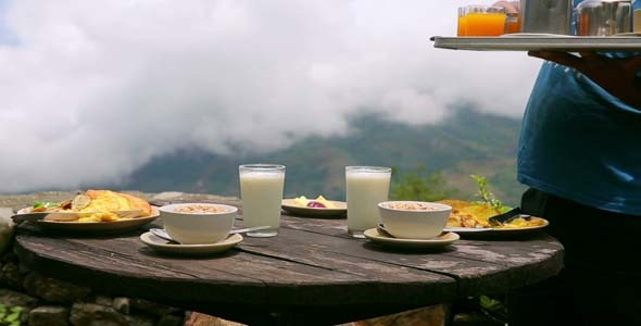 Organic Breakfast Being Served at Himalayan View