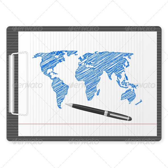 GraphicRiver Clipboard World Map 5732929