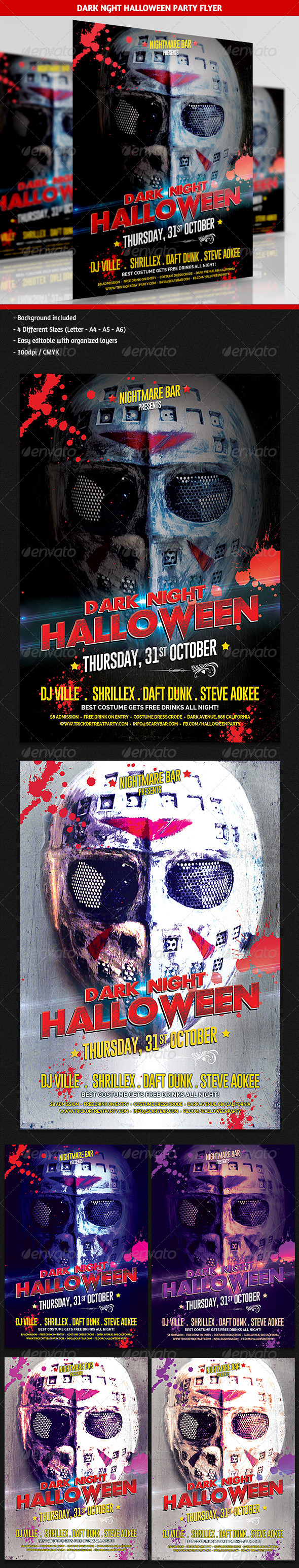 GraphicRiver Dark Halloween Night Party Flyer 5733069