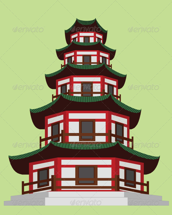 GraphicRiver Chinese Pagoda 5733072