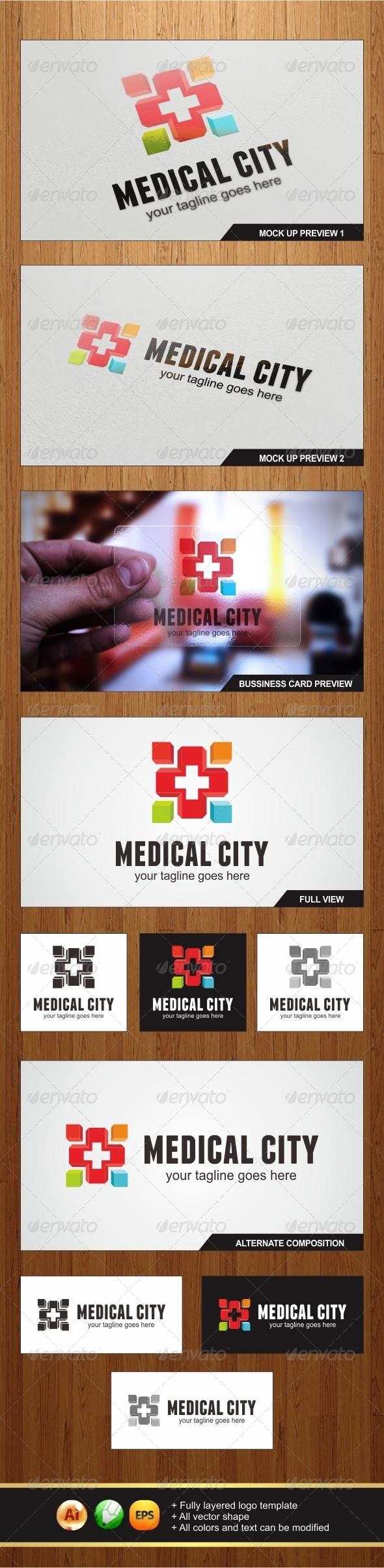 GraphicRiver Medical City Logo 5733193