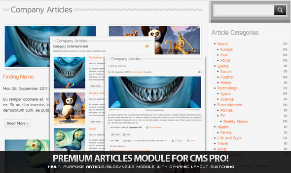 CodeCanyon Article Manager Module for CMS pro 591229
