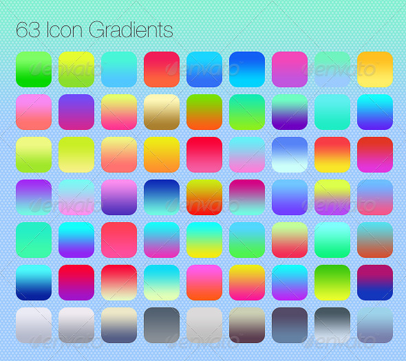 63 Icon Gradients - Photoshop Add-ons