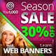 Multipurpose Sale Banners PSD Templates 2 - GraphicRiver Item for Sale