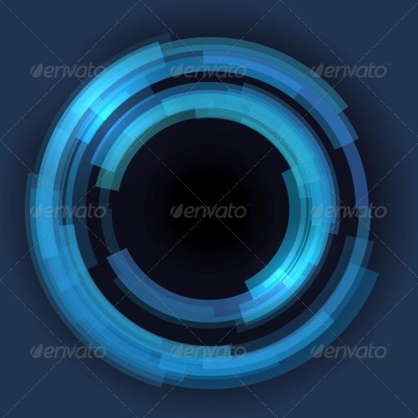 GraphicRiver Abstract Technology Circles Background 5733314