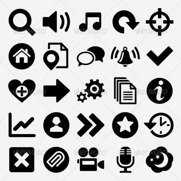 GraphicRiver Games and web icons set 5733344
