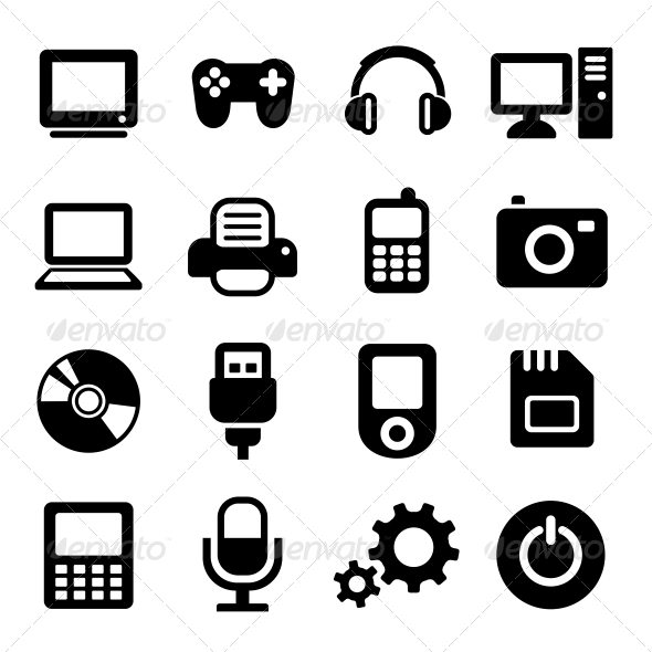 GraphicRiver Multimedia Gadget Icons Set 5733349