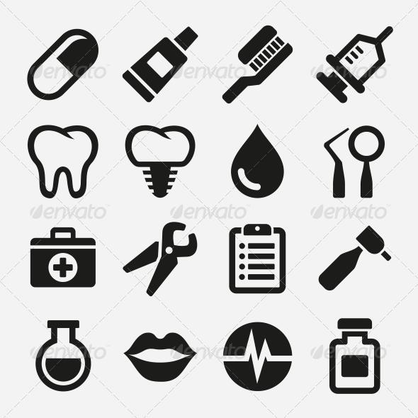 GraphicRiver Dental Icons Set 5733352