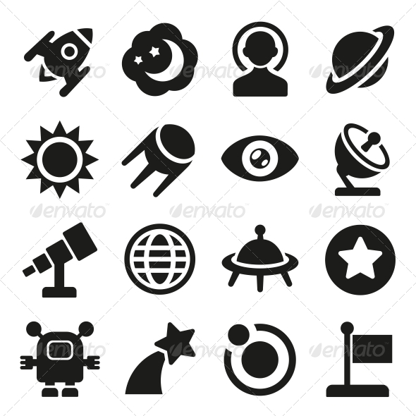 GraphicRiver Space Icons Set 5733354