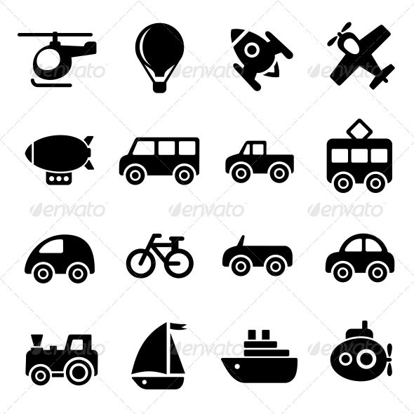 GraphicRiver Transportation Icons 5733385