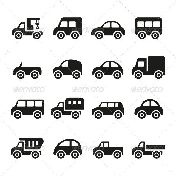 GraphicRiver Cars Icon Set 5733409
