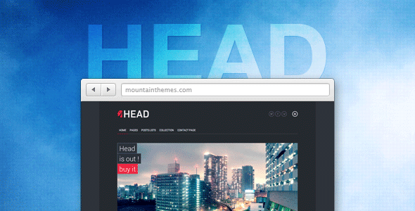 Head is a multi purpose theme which make no assumptions of your content. With Head you can create your page from the ground up thanks to the intuitive page bui