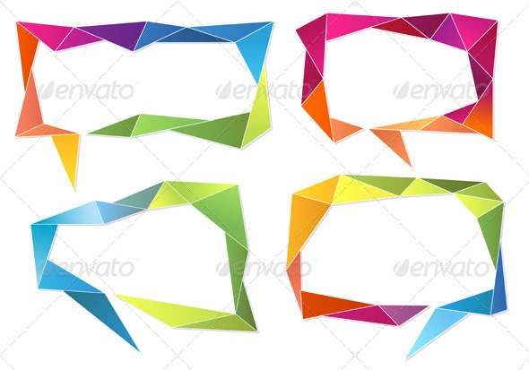 GraphicRiver Geometric Speech Bubbles 5733669