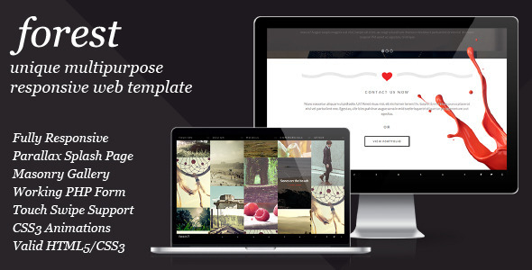 ThemeForest Forest Unique Multipurpose Responsive Template 5733677