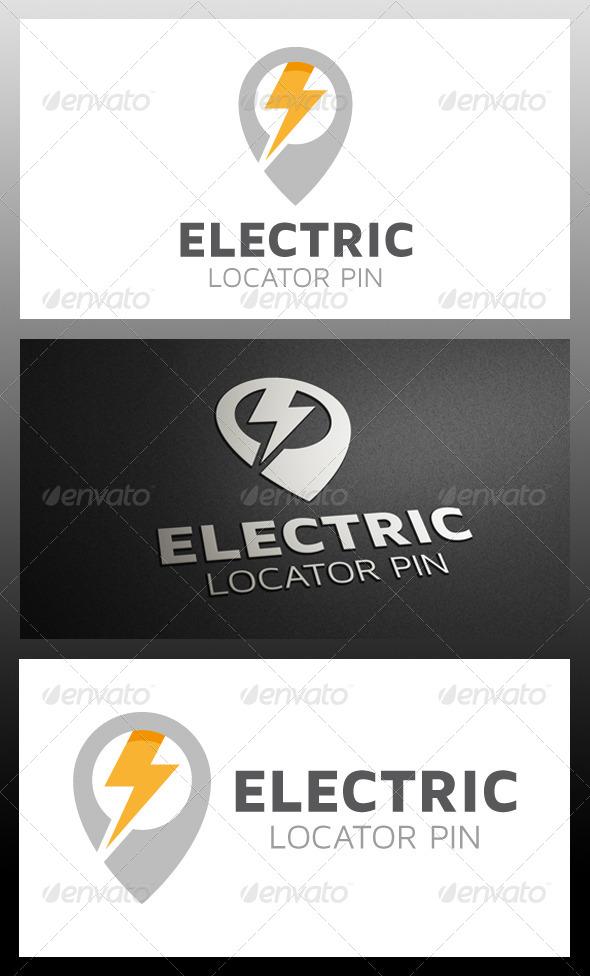 GraphicRiver Electric Locator Logo Template 5733711