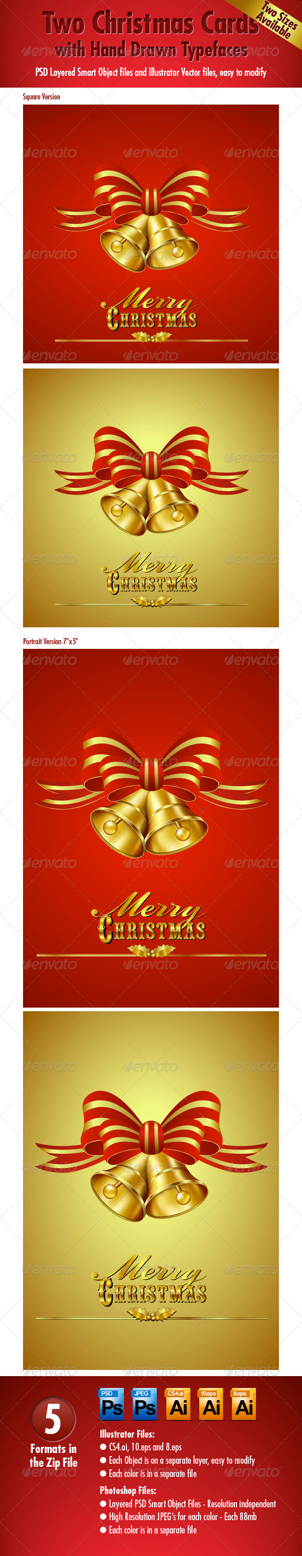 GraphicRiver Two Christmas Cards 5733770