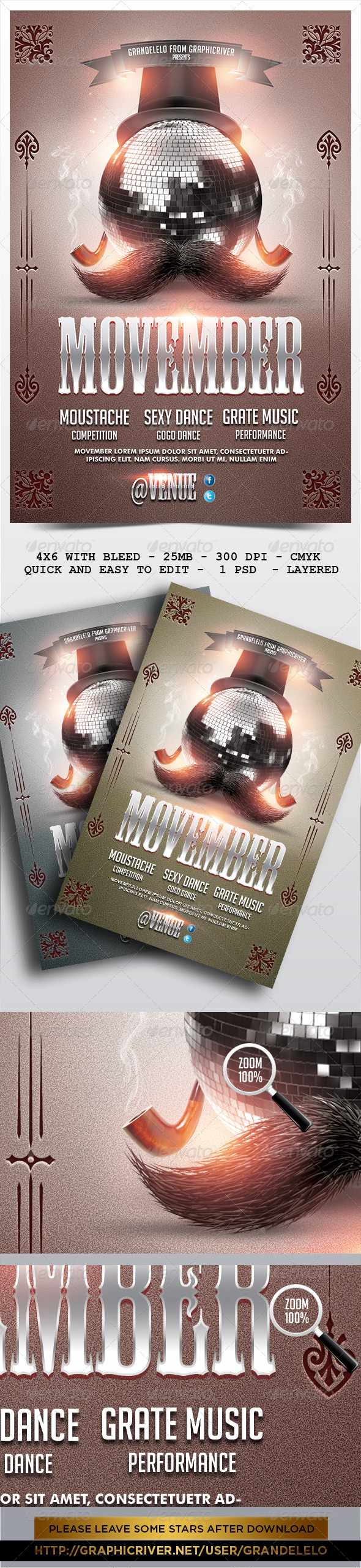 GraphicRiver Movember Flyer Template 2.0 5734067