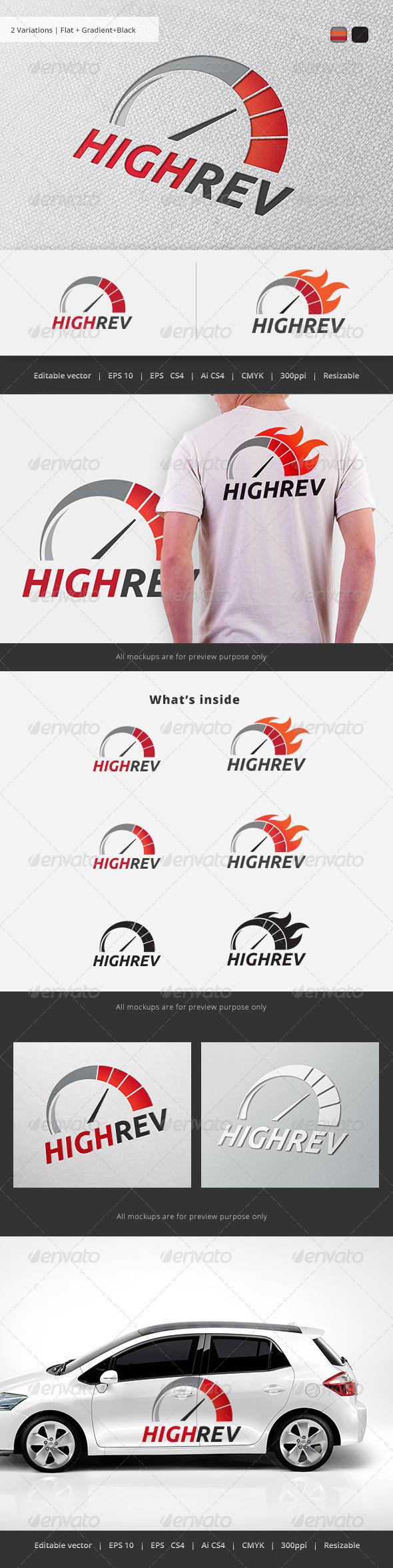 GraphicRiver High Rev Speedo Logo 5734569