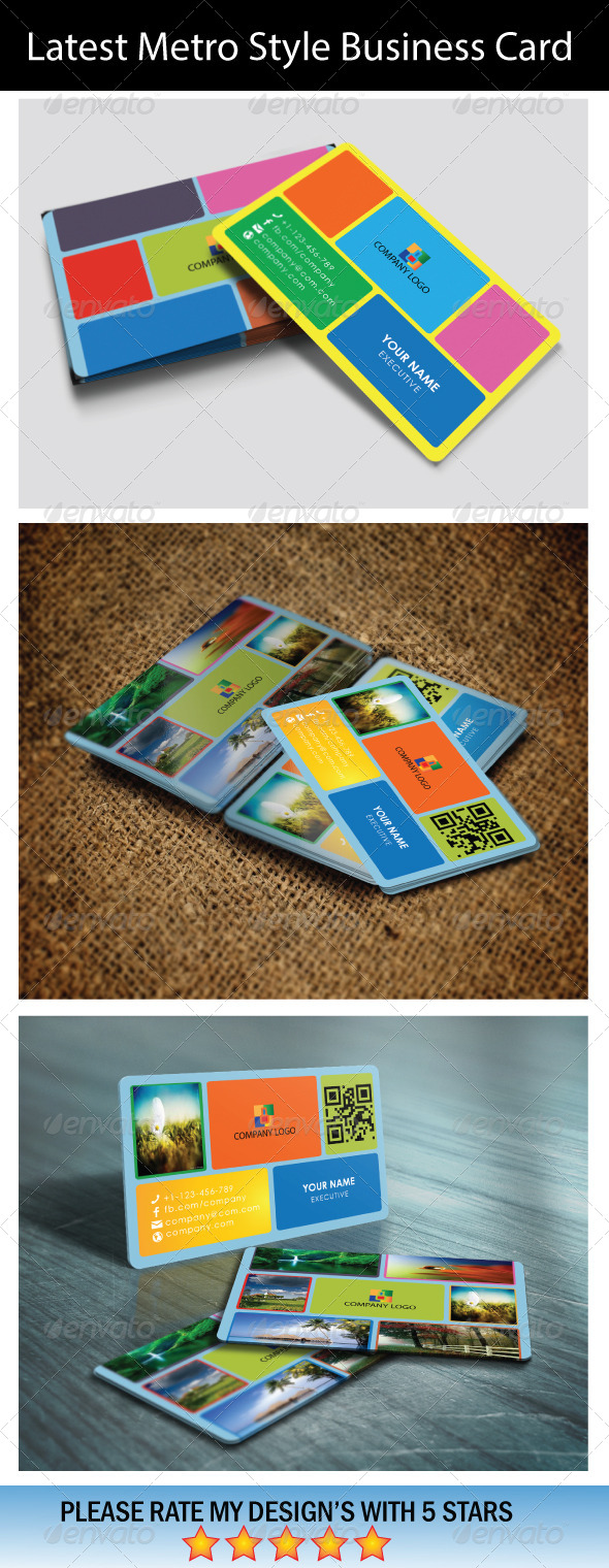 GraphicRiver Latest Metro Style Business Card 5734786