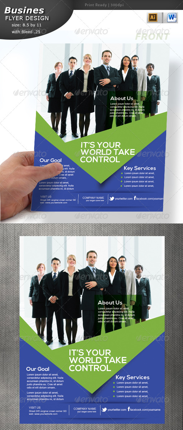 GraphicRiver Business Flyer Design 5734916