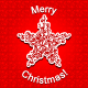 Abstract Red Christmas Star Snowflake - GraphicRiver Item for Sale