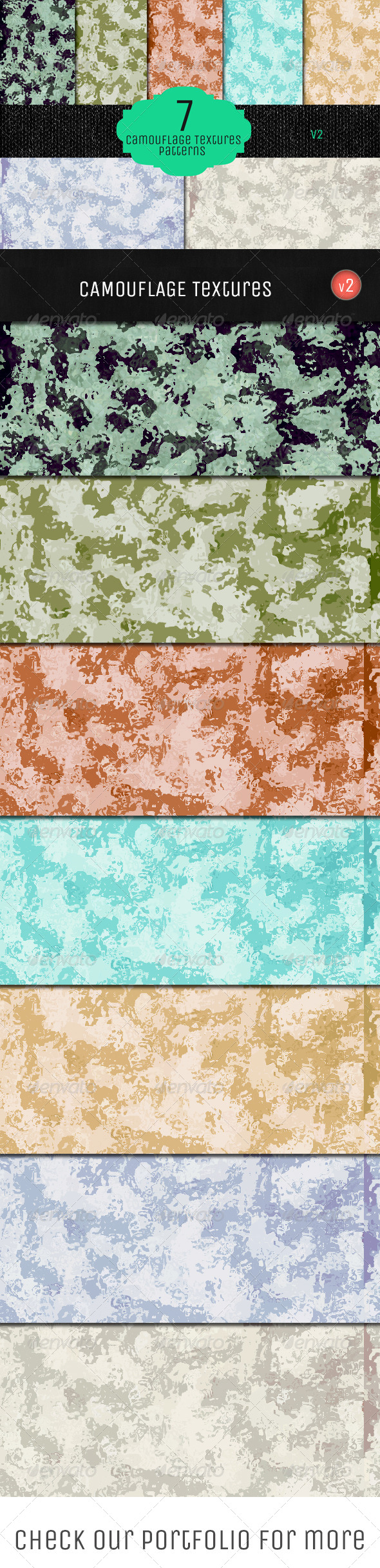 GraphicRiver Camouflage Textures V2 5735363