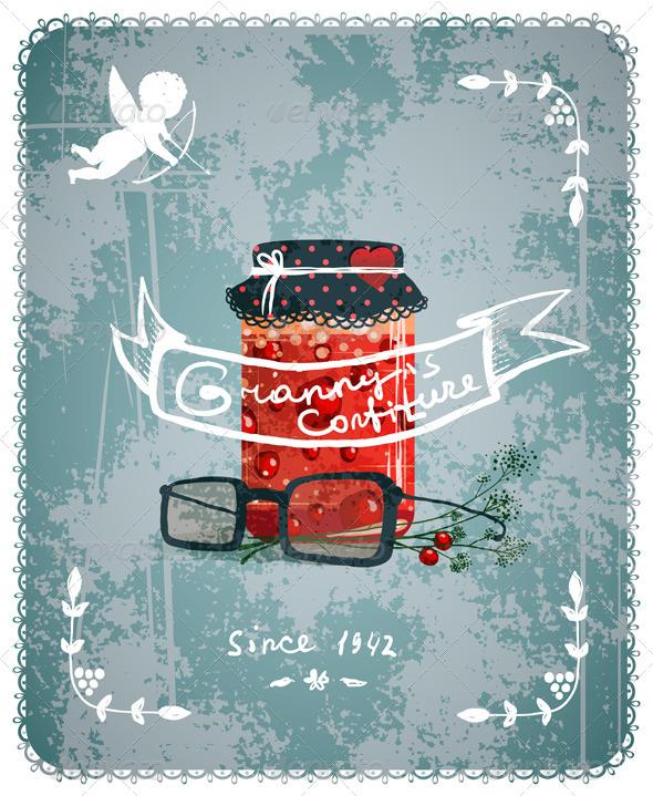GraphicRiver Granny Confiture Vintage Poster Concept 5735387