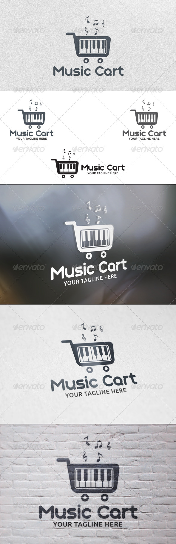 GraphicRiver Music Cart Logo Template 5735470