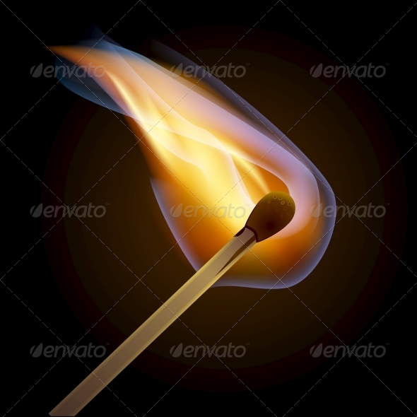 GraphicRiver Match Bursting into Flame 5735655