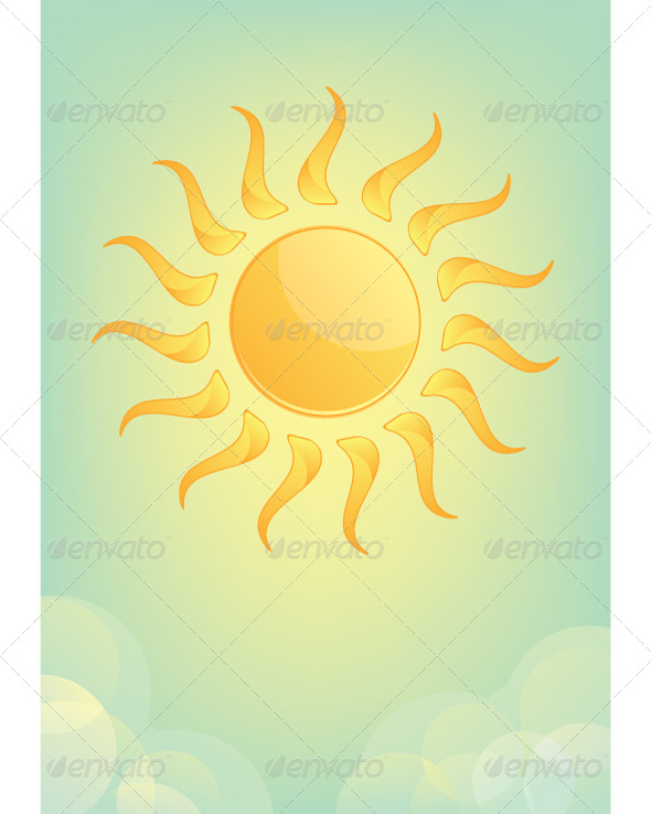 GraphicRiver Sun and Sky with Clouds 5735741