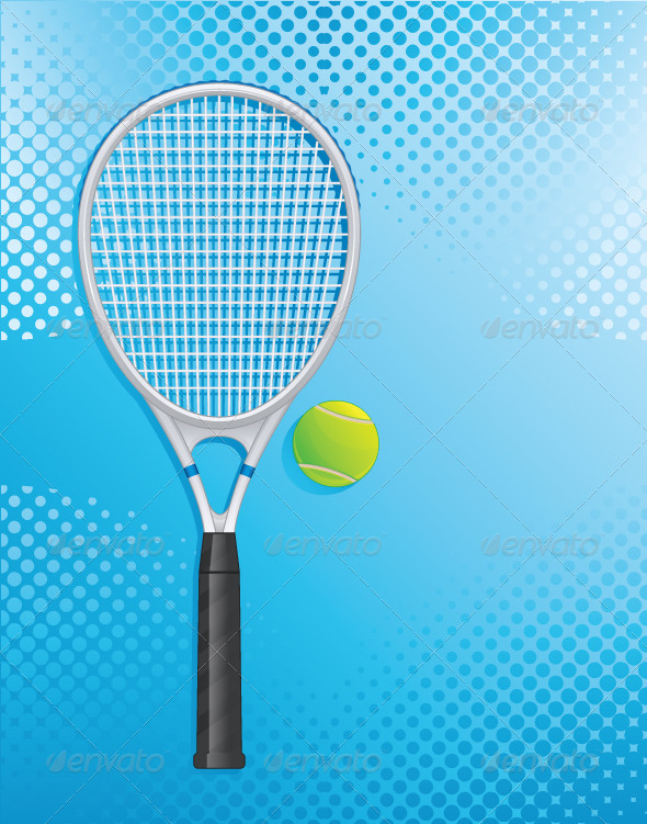 GraphicRiver Tennis Racket 5735903
