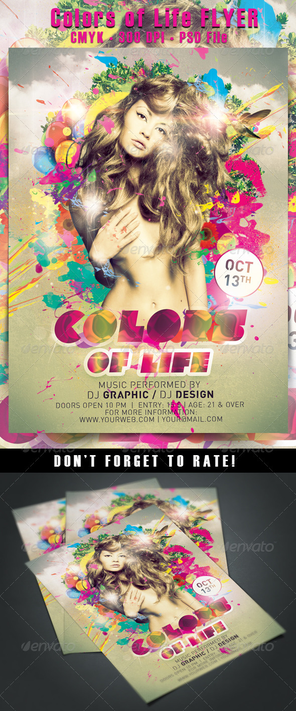 Colors of Life Flyer - Events Flyers