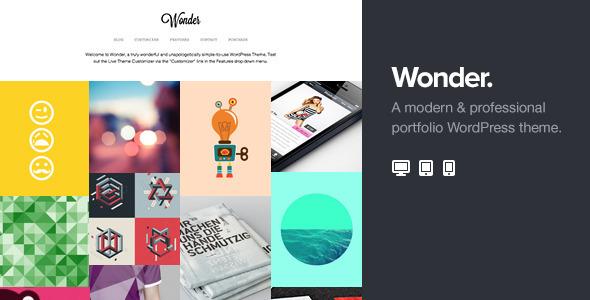 ThemeForest Wonder Professional WordPress Portfolio Theme 5735967