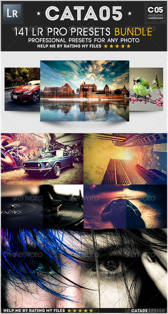 GraphicRiver 141 Lightroom Pro presets 5736041