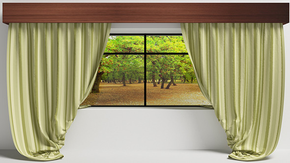 Curtain With Window Vray-C4D