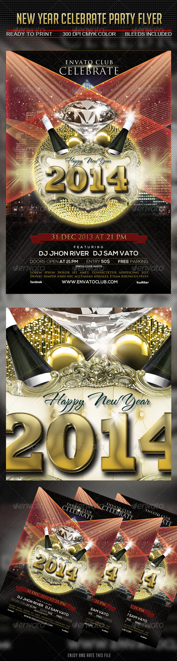 GraphicRiver New Year Celebrate Party Flyer 5736540