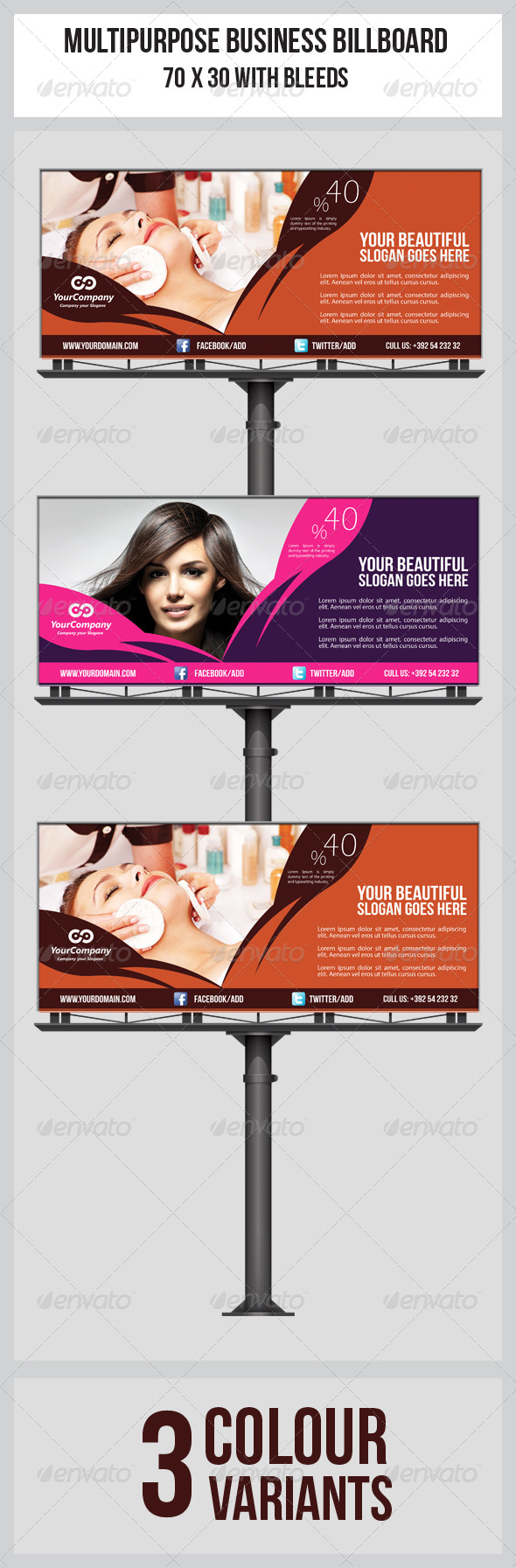 GraphicRiver Hair & Beauty Salon Business Billboard 5590092