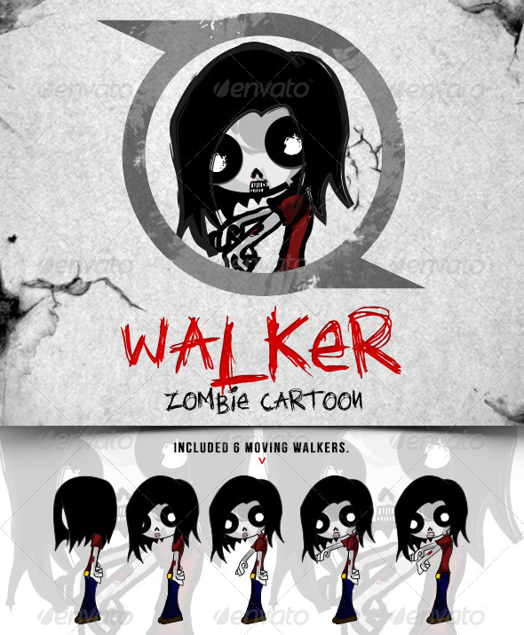 GraphicRiver Walker Zombie Cartoon 5722039