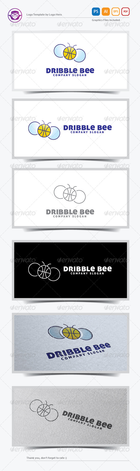 GraphicRiver Dribble Bee Logo Template 5736892