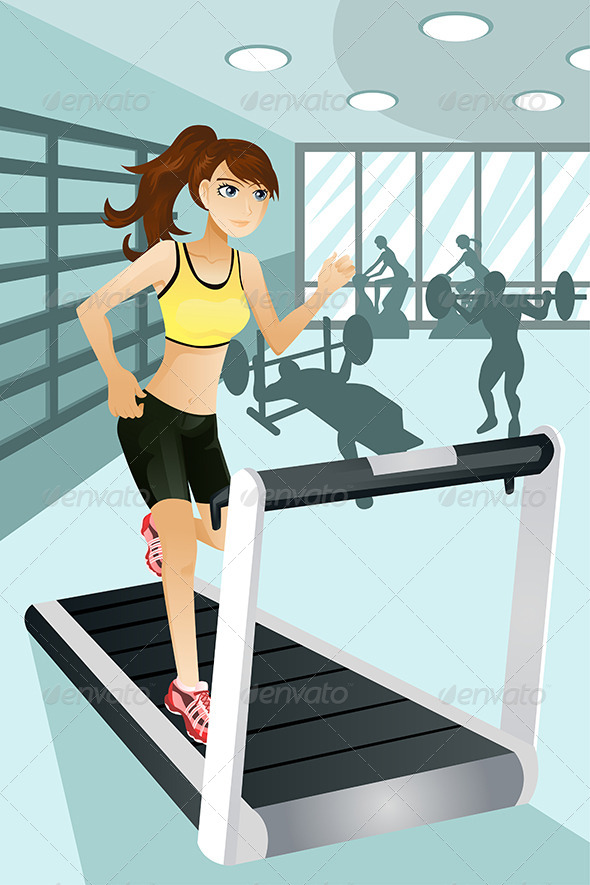 GraphicRiver Woman Exercising at Gym 5737572