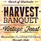 Vintage Harvest Banquet Flyer Template - GraphicRiver Item for Sale