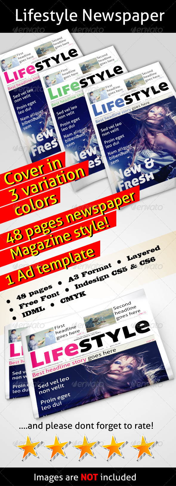 Lifestyle Newspaper - Newsletters Print Templates