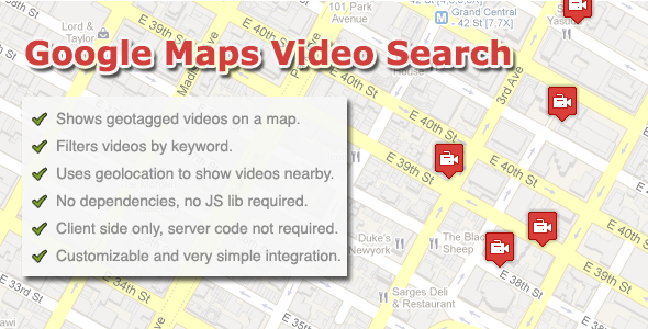 CodeCanyon Google Maps Video Search 242263