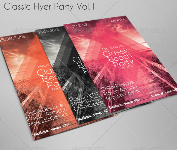GraphicRiver Classic Beach Party Flyer 5737950