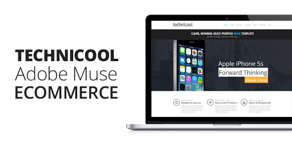 Technicool | Muse eCommerce Template