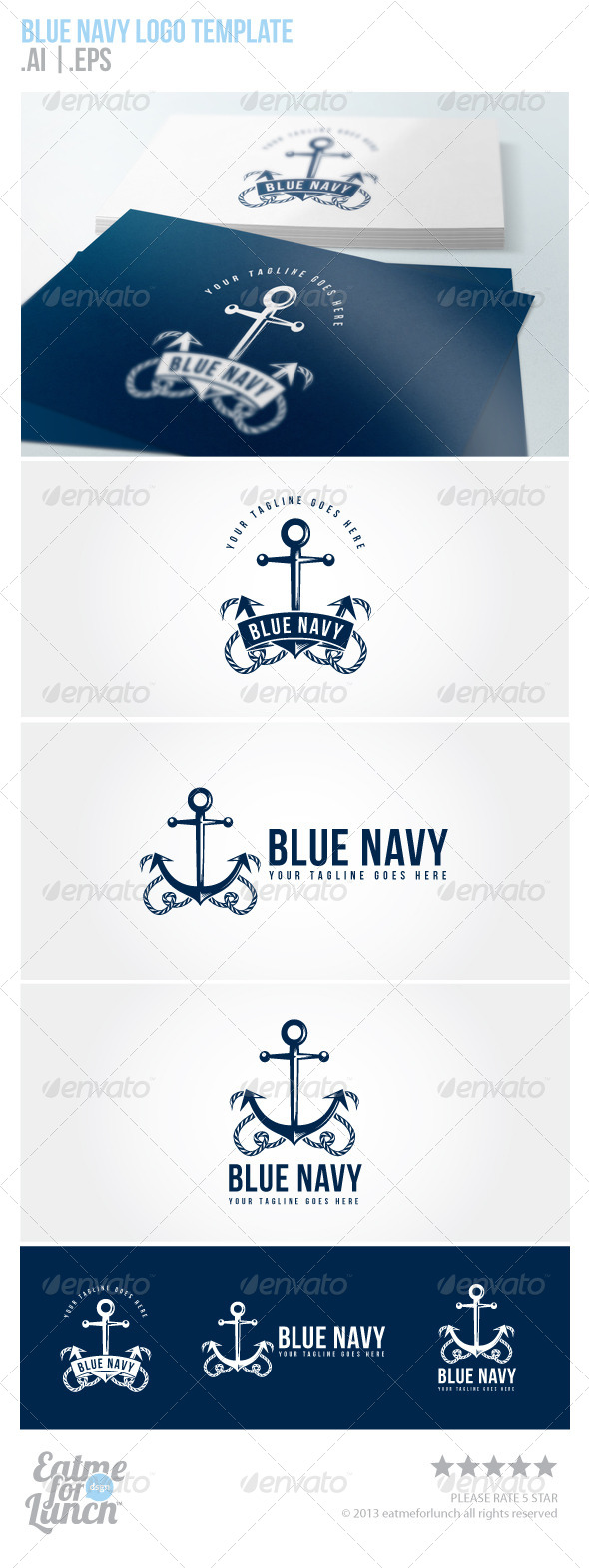 GraphicRiver Blue Navy Sailing and Navy Logo Template 5700039