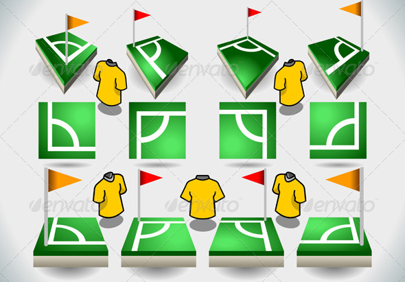 GraphicRiver Set of Soccer Corner and Icons 5306553