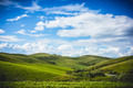 Green field. Blue Sky. Hills - PhotoDune Item for Sale